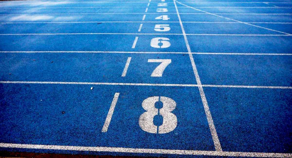 athletics blue ground lanes