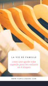 Créer une garde-robe capsule pour les enfants en 4 étapes